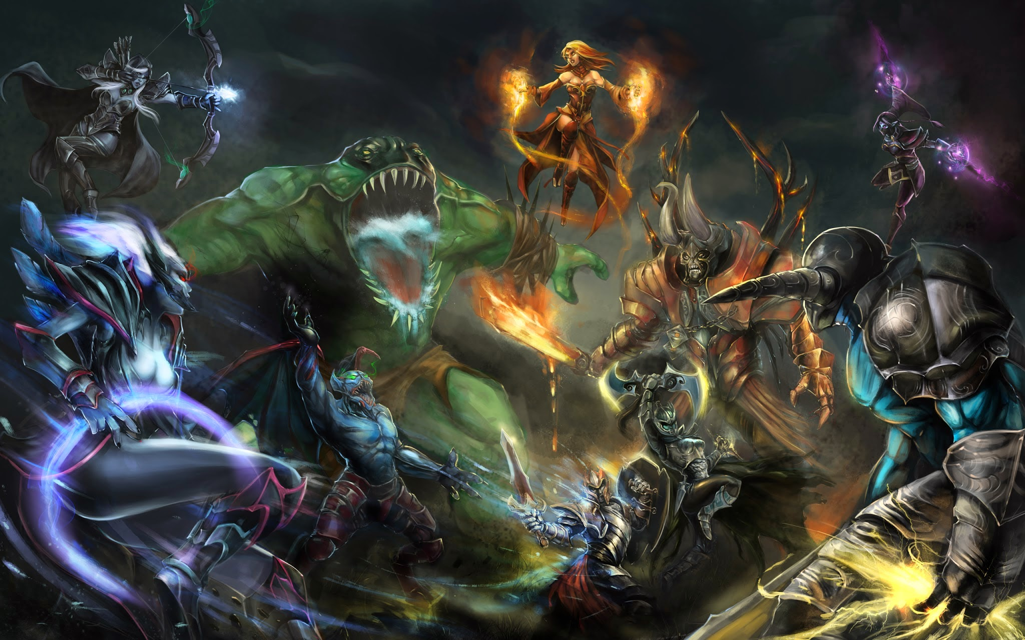 dota 2 clash of heroes g3 wallpaper hd