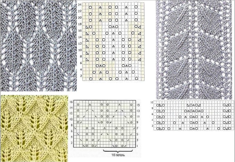 How To Knit A Leaf Pattern : Leaf type Knitting pattern 2