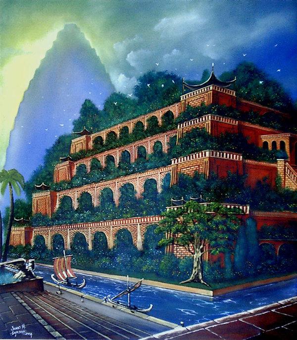 os jardins suspensos da babilônia foram uma das sete maravilhas do