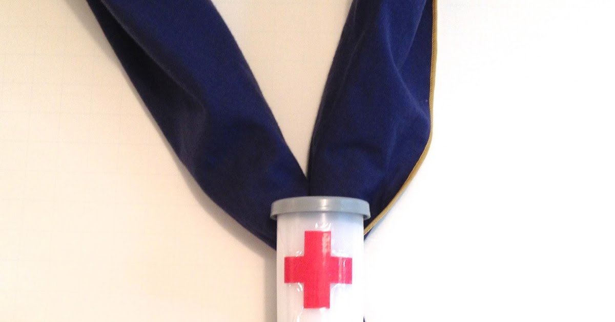 1001 Goals: Film Canister First Aid Kit Neckerchief Slide