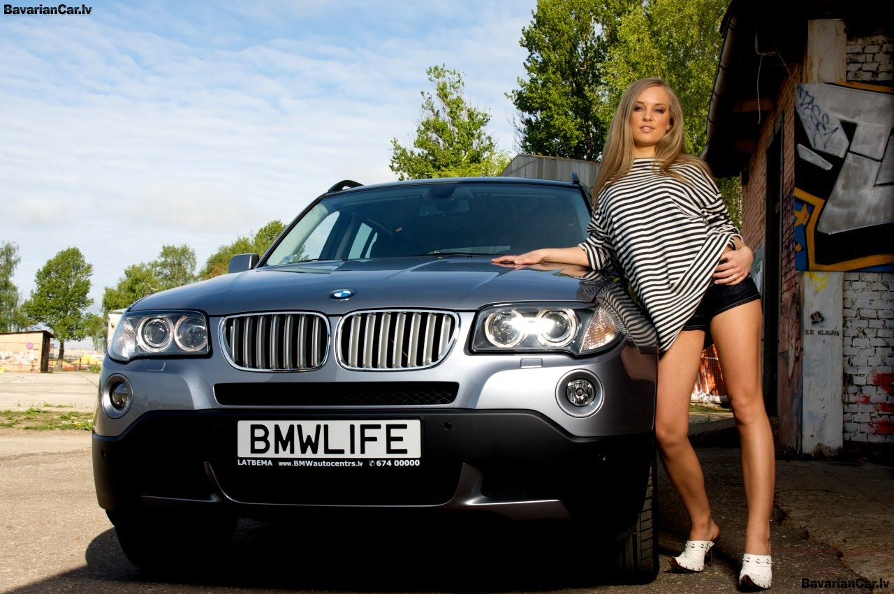 Auto Car Pass Hot Girl Car Bmw 01