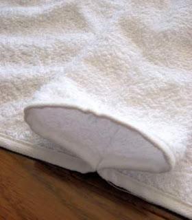 toalla con capucha para bebe