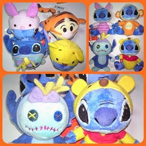 JAPAN DISNEY YOUNG EPOCH STITCH & SCRUMP AS WINNIE THE POOH & FRIENDS