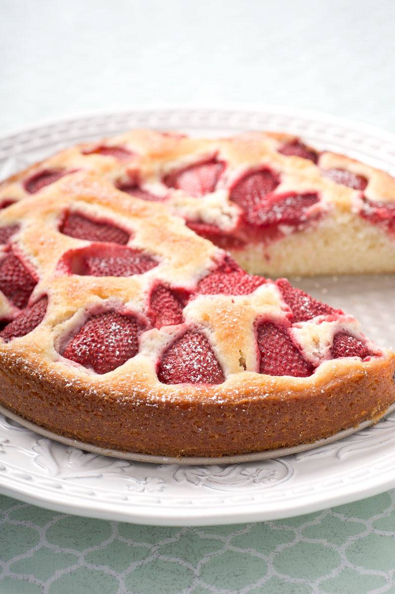 Gallery For > Fresh Strawberry Cake Recipe