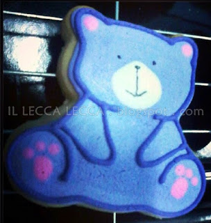 bear pink purple white theme fancy cookies
