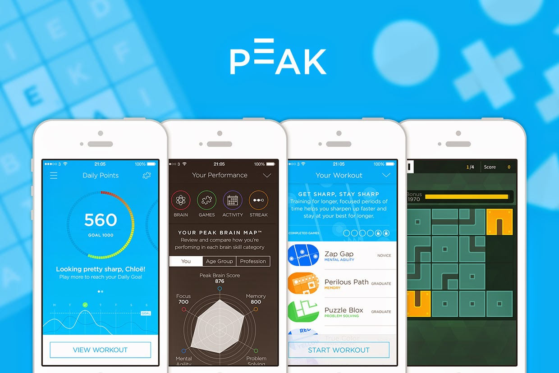 Aplicaciones para el entrenamiento cerebral Peak