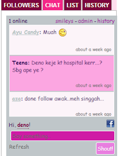Shoutbox Di Blog Dah Okey!