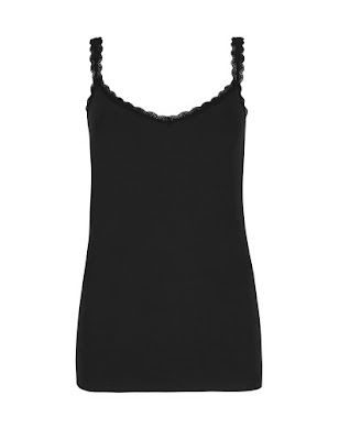 Marks and Spencer Soft Touch Cotton Rich Lace Trim Vest