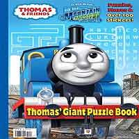 Thomas Giant Puzzle Book blue mountain mystery paperback 40 pages Giant Coloring Book