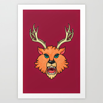 Art Print Rumex Horned