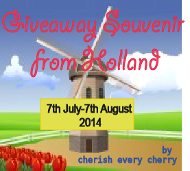 Giveaway Souvenir from Holland by Cherish Every Cherry