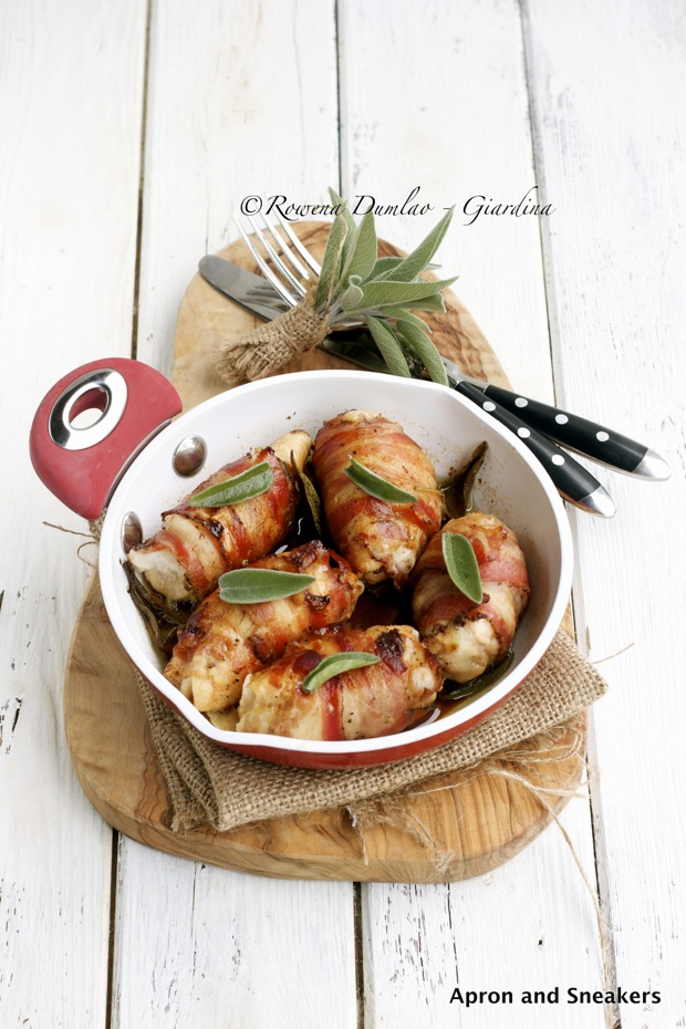 ... Pancetta-Wrapped Chicken Rolls Stuffed With Provolone & Sage with