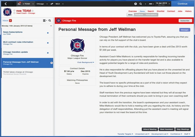 Football Manager 2014 PC Games Screenshots