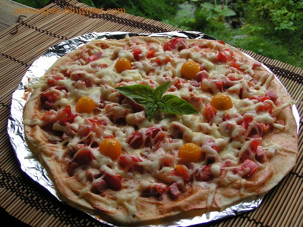 Пицца в аэрогриле теста