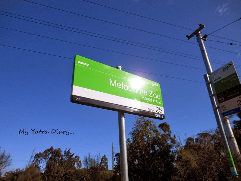 Tram stops sign post, Melbourne