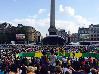 Pic of crowd in Trafalgar Square for Brazil Day