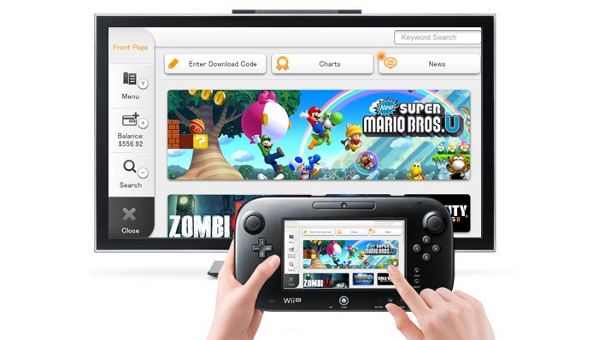Screenshot of someone shopping on the Wii U eShop