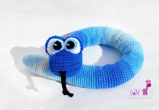 serpiente amigurumi