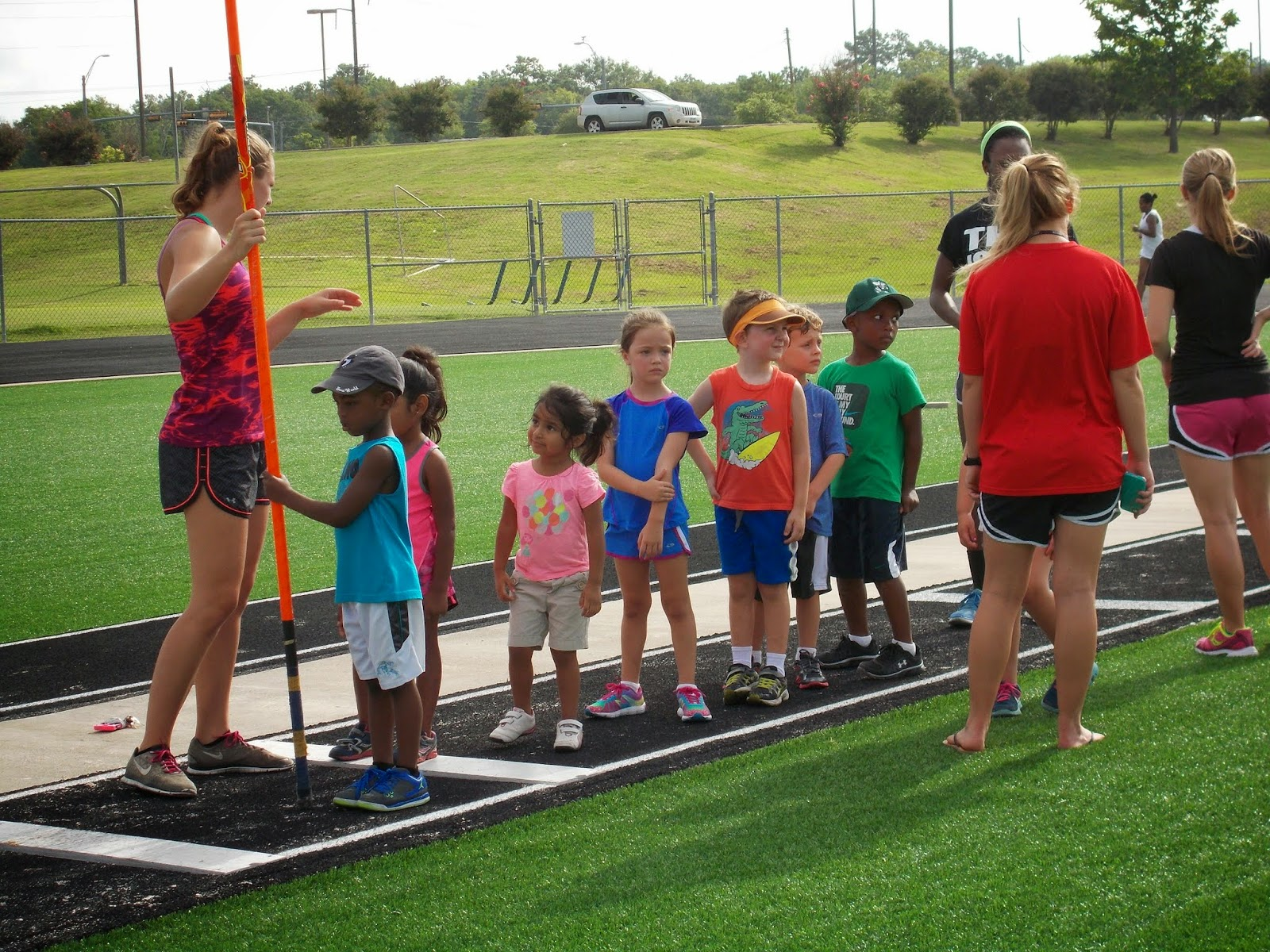 The Garner Family Brady At Track Camp