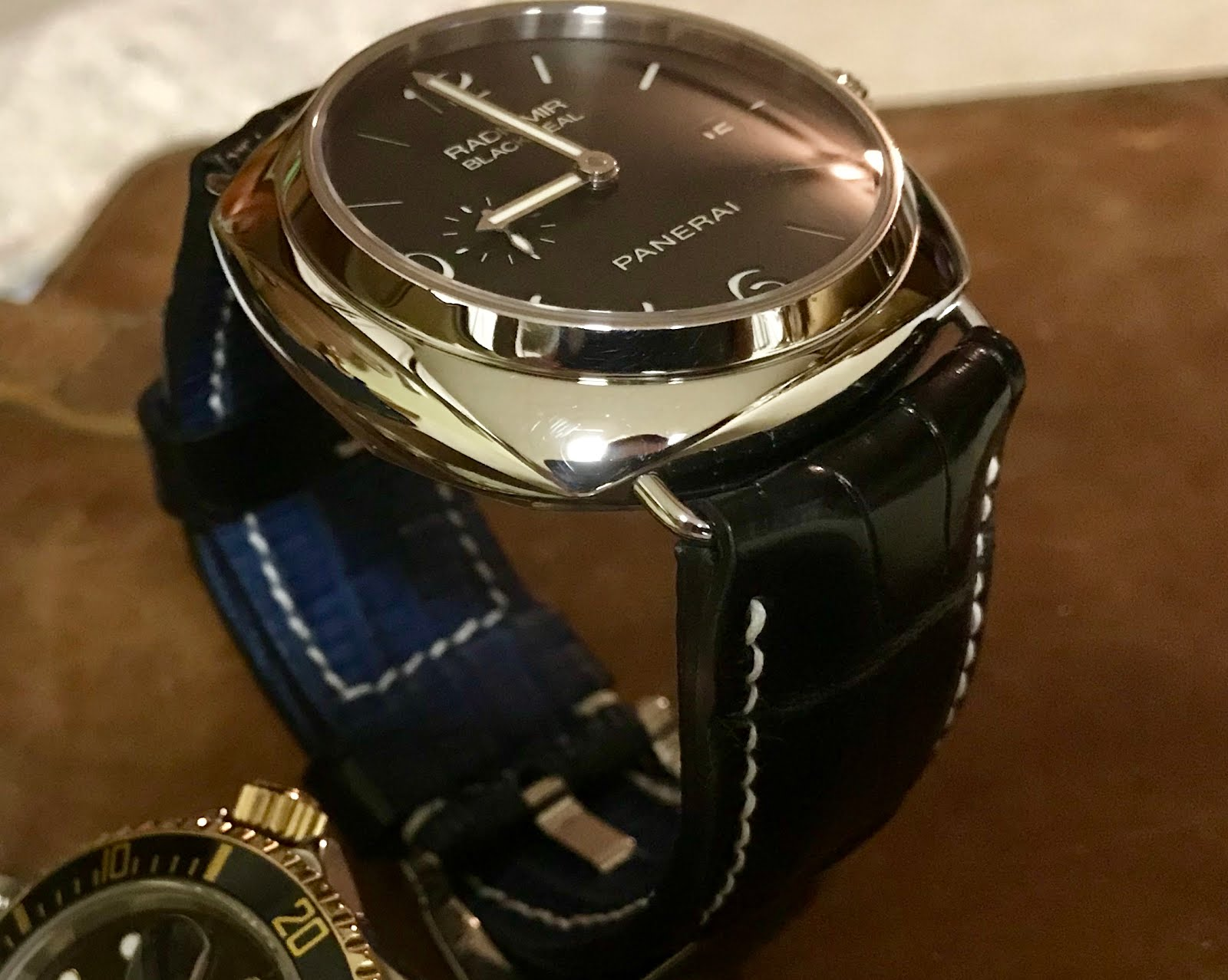 Andy's Great Looking PAM388 on Ebony Alligator with Blue SuperMatte Teju lining