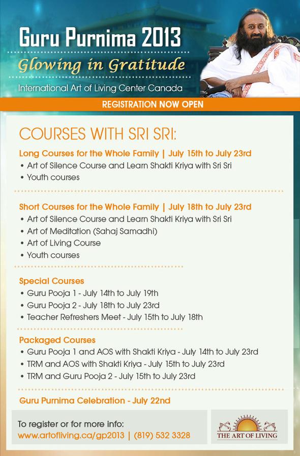 Guru Purnima Celebration with Sri Sri Ravi Shankar | July 2013
