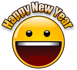Happy New Year Animated Emoticons for Facebook, WhatsApp