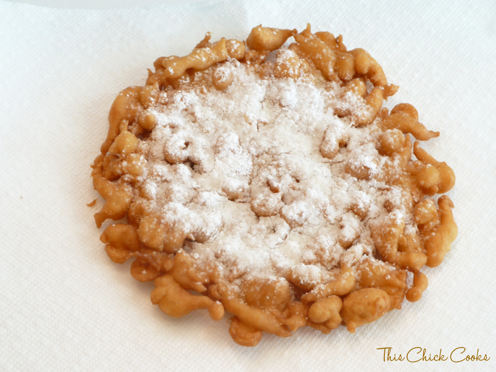 Funnel Cake {Easy & Homemade} | This Chick Cooks