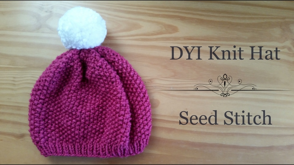 HipCreative: Seed Stitch Hat (How to knit a Hat)