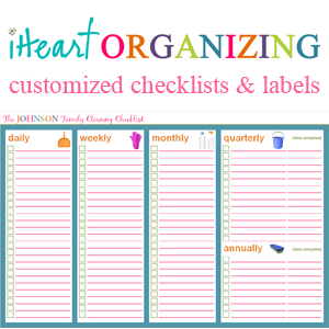 Iheart organizing march challenge project household for Construction organizer notebook