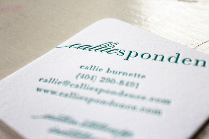 Letterpress calliespondence so i ran with it i opted for rounded corners rather than edging this time and had the cards letterpressed on super thick crane 220 lb lettra stock reheart Choice Image