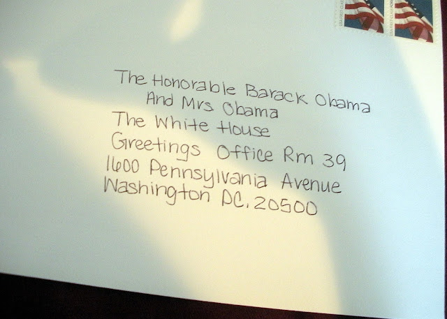 If you send a birth annoucement to the white house we got this in the mail m4hsunfo