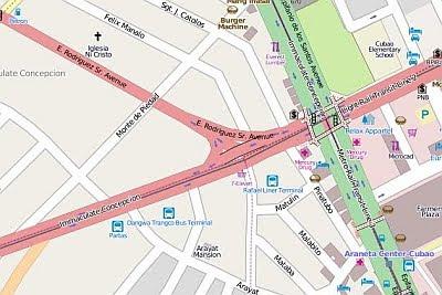 Partas Cubao Map Map of Partas Bus Terminal in