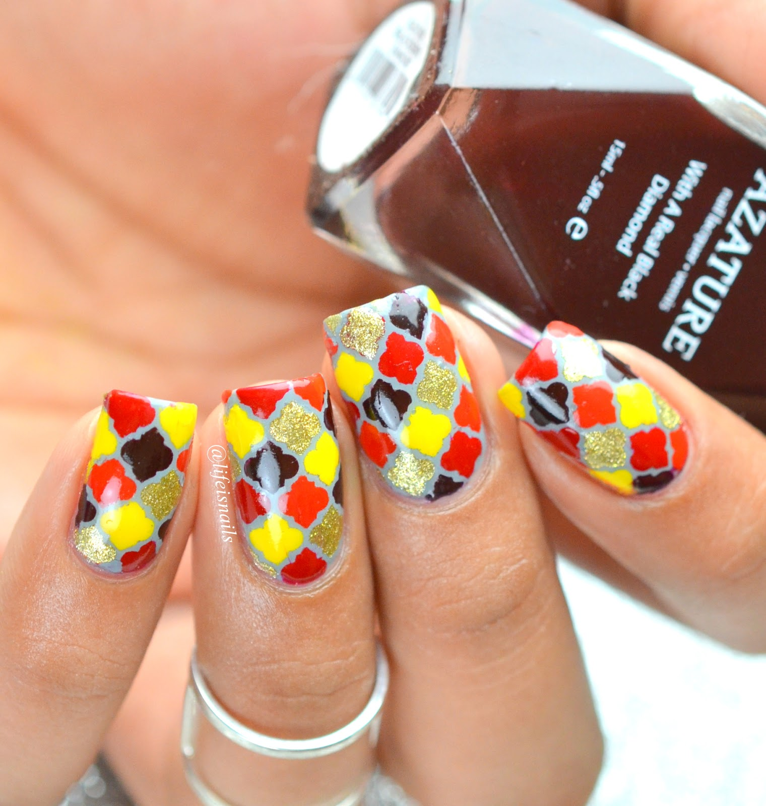 Fall Colors Inspired Morrocan Nail Art ~ Lifeisnails