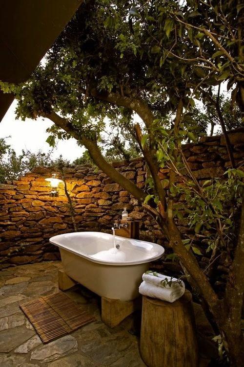 outdoor bathroom salle bain extérieur