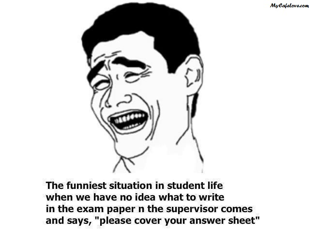 The funniest situation in a students life ~ funny image
