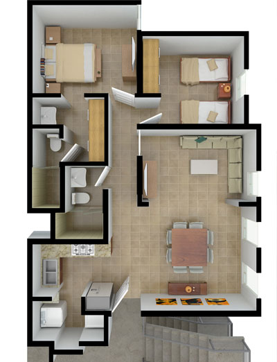 Planos de casas y plantas arquitect nicas de casas y for Habitaciones 3d gratis