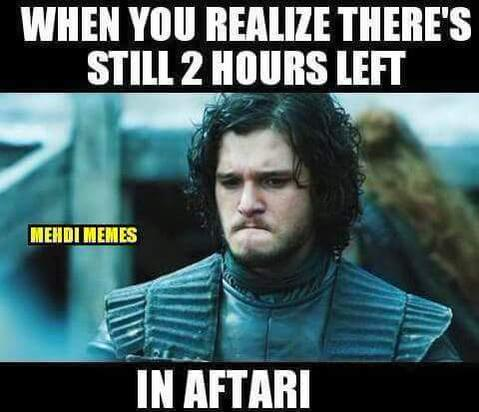 when you realize there's still 2 hours left in aftari #got #Ramadan #iftaar #meme #GameofThrones