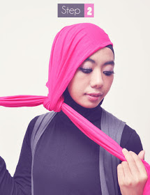 Gambar Cara Memakai Jilbab Casual