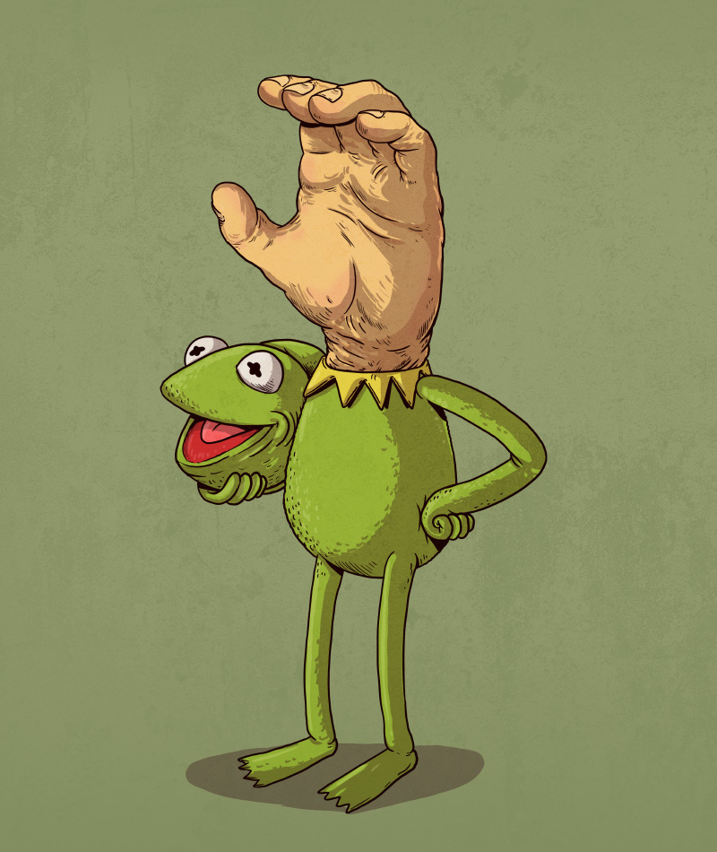 20-Kermit-the-Frog-from-the-Muppets-Alex-Solis-Illustrations-of-Icons-Unmasked-www-designstack-co