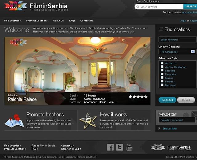 Online baza filmskih lokacija u Srbiji