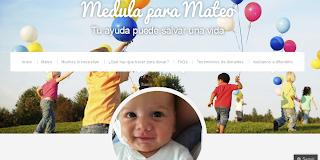 Imagen de la portada de la web de Medula para Mateo: medulaparamateo.com