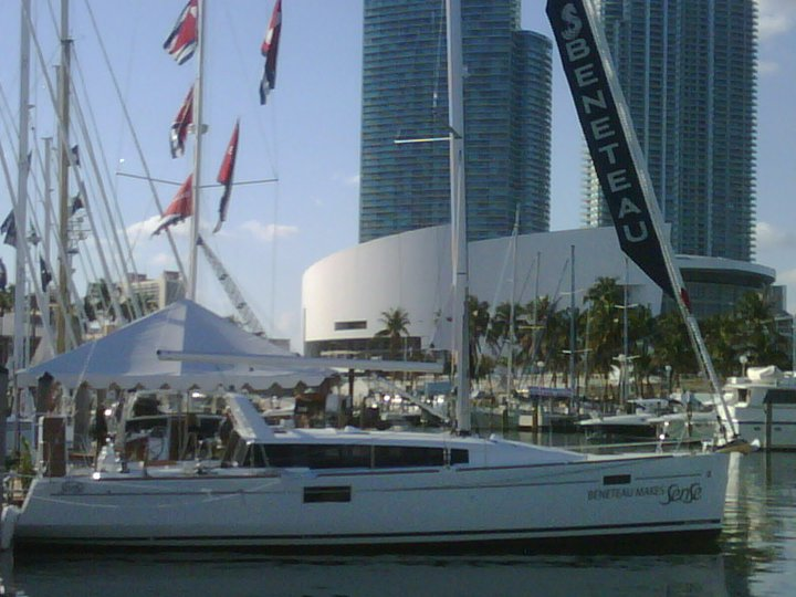 The SENSE 43 made her North American debut at the Miami Boat Show this ...