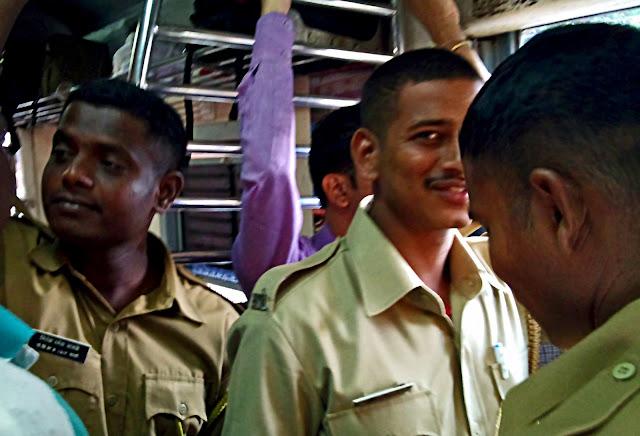 railway recruits on train