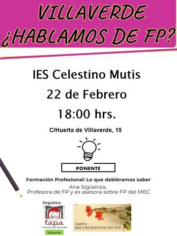 jueves 22 en Villaverde: Interesante Charla informativa