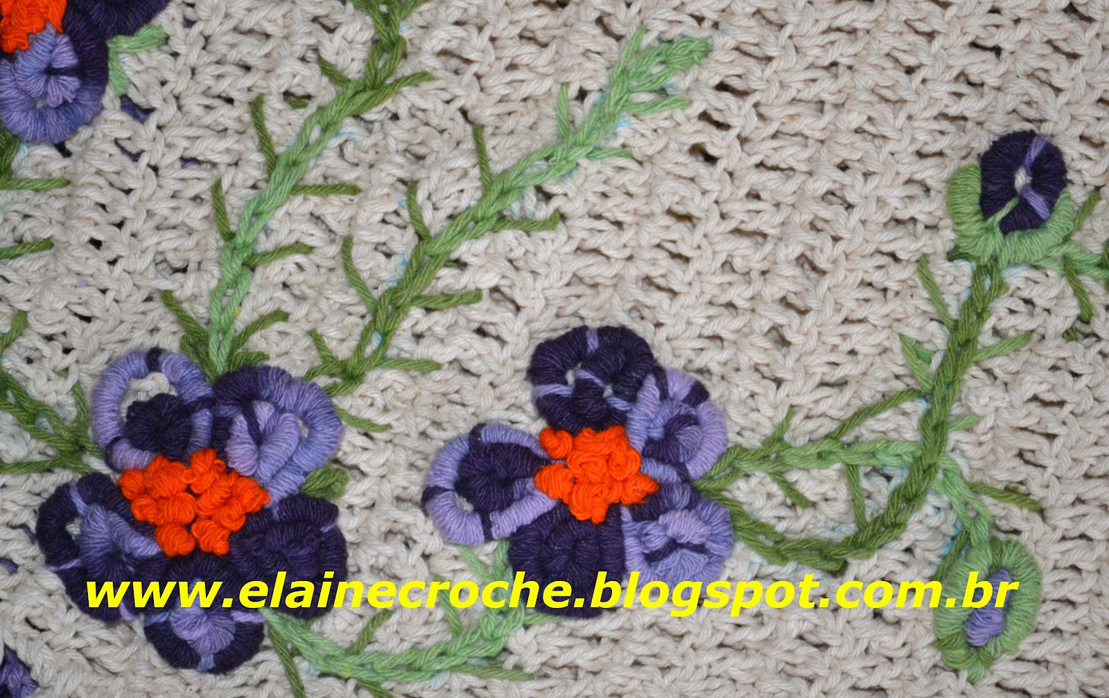 Elaine Croche: Bordado em Crochê Barbante Multicores Premium #C72E04 1600 1008