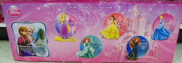 Box back Target's 7-Doll Ultimate Disney Princess Collection 2014