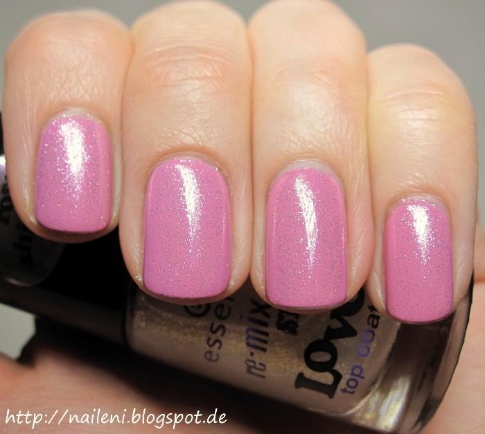 nails reloaded rosa nagellack mit pinkem glitzerlack. Black Bedroom Furniture Sets. Home Design Ideas