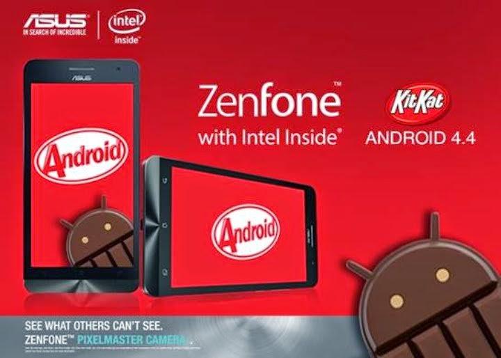 Cara Update Asus Zenfone 4,5 dan 6 ke Kitkat
