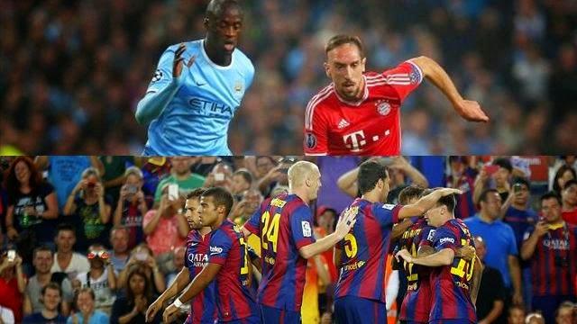 توقيت مباراة برشلونة ، توقيت مباراة بايرن ميونخ ومانشستر سيتي