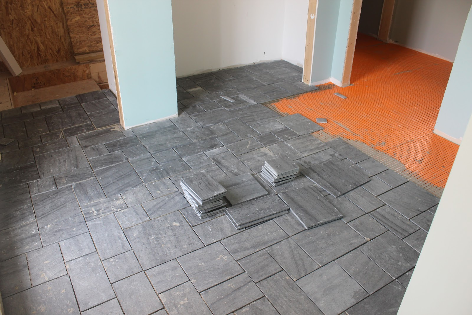Avente tile talk installing a slate tile floor as you go along a line develops and then you have to choose what tile pieces to add to break it its very much like doing a puzzle but you are making it dailygadgetfo Choice Image